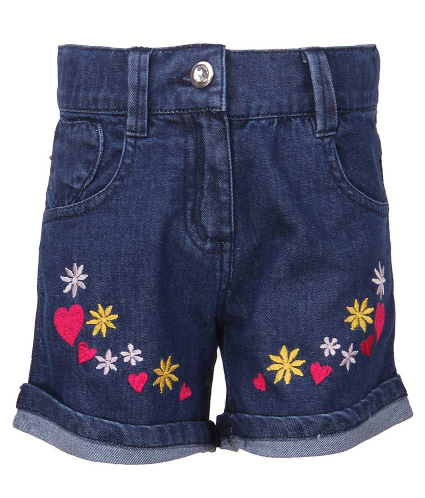 Cool Quotient Blue Shorts For Girls