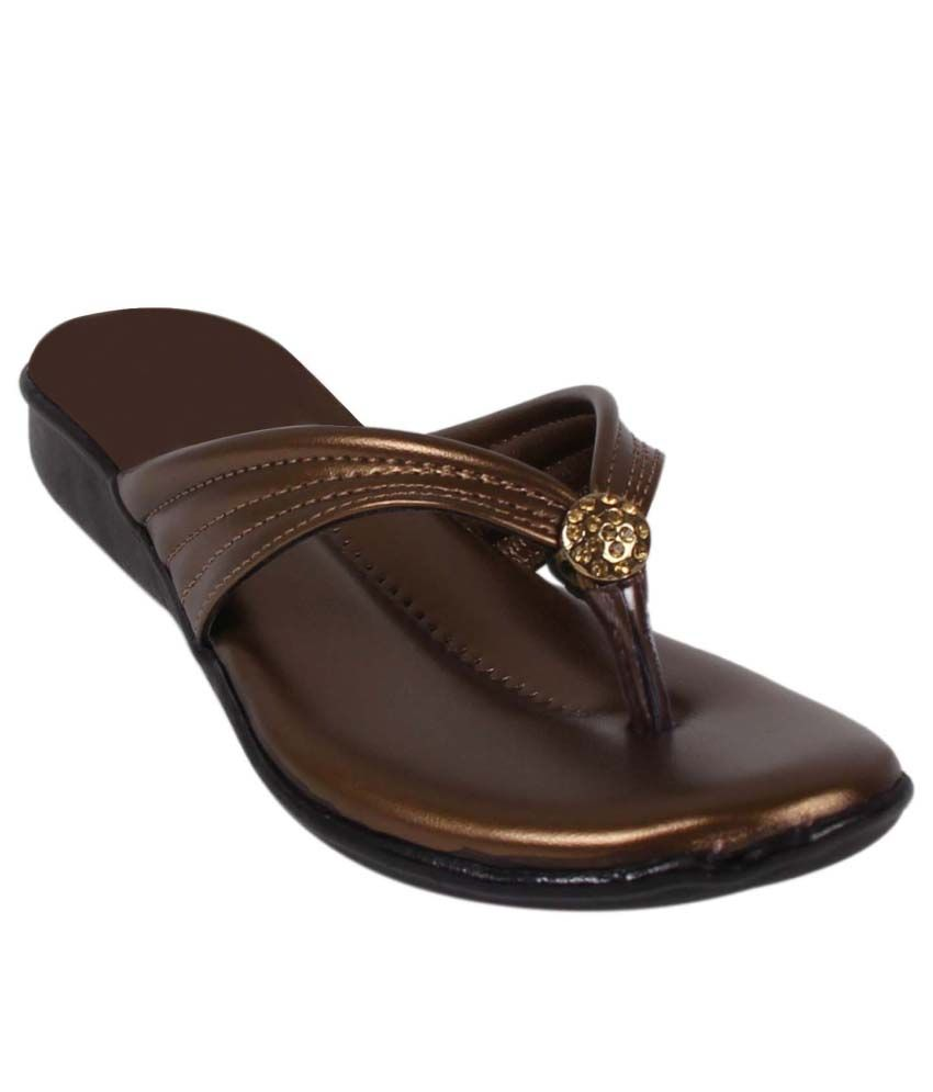 Footshez Gold Wedges Heels