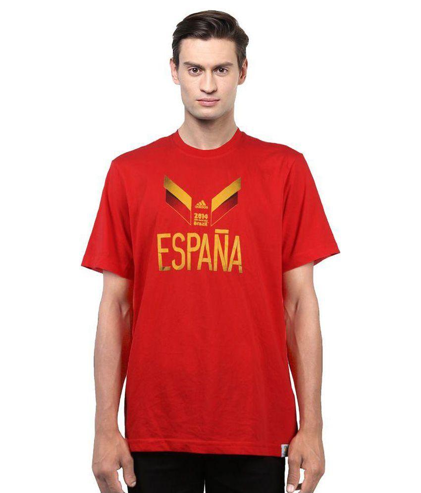 Adidas Red Round T Shirt