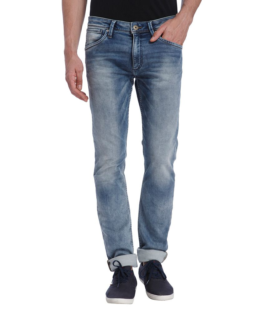 Jack & Jones Blue Glenn Slim Fit Jeans