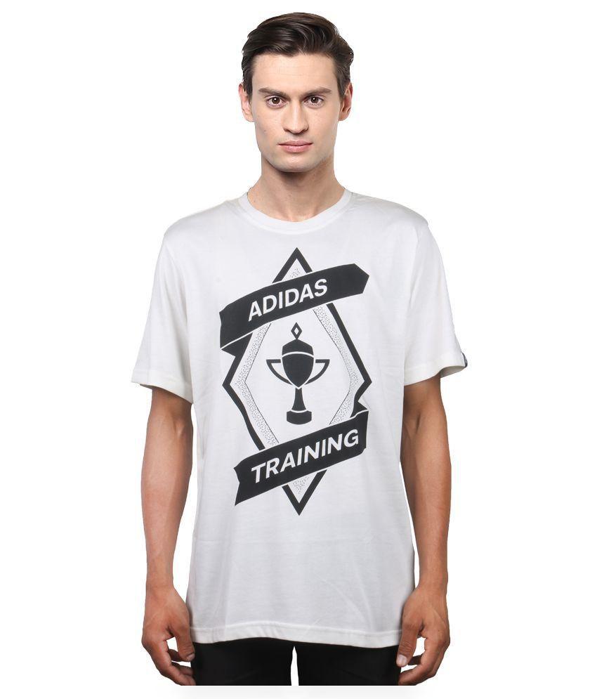 Adidas White Round T Shirt