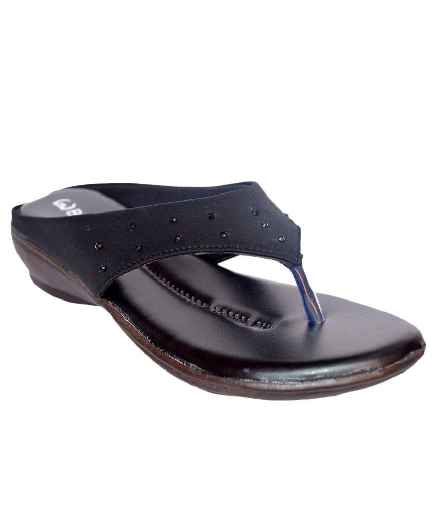 Buggu Black Wedges Heels