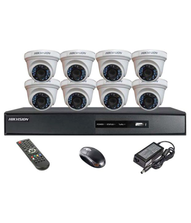 Hikvision-DS-7208HQHI-E1-8CH-Dvr,-8(DS-2CE56DOT-IR)-Dome-Camera-(With-Mouse,-Remote)