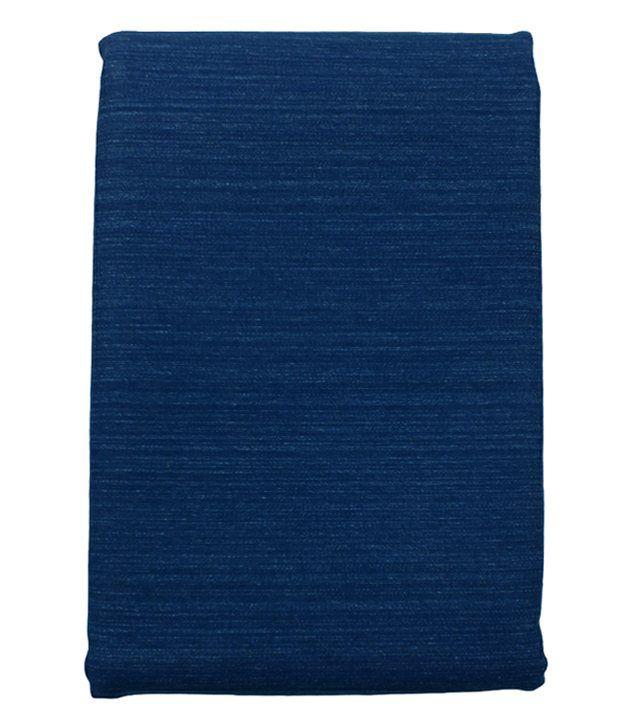 Arvind Firoza Blue Cotton Denim Unstitched Jeans Fabric