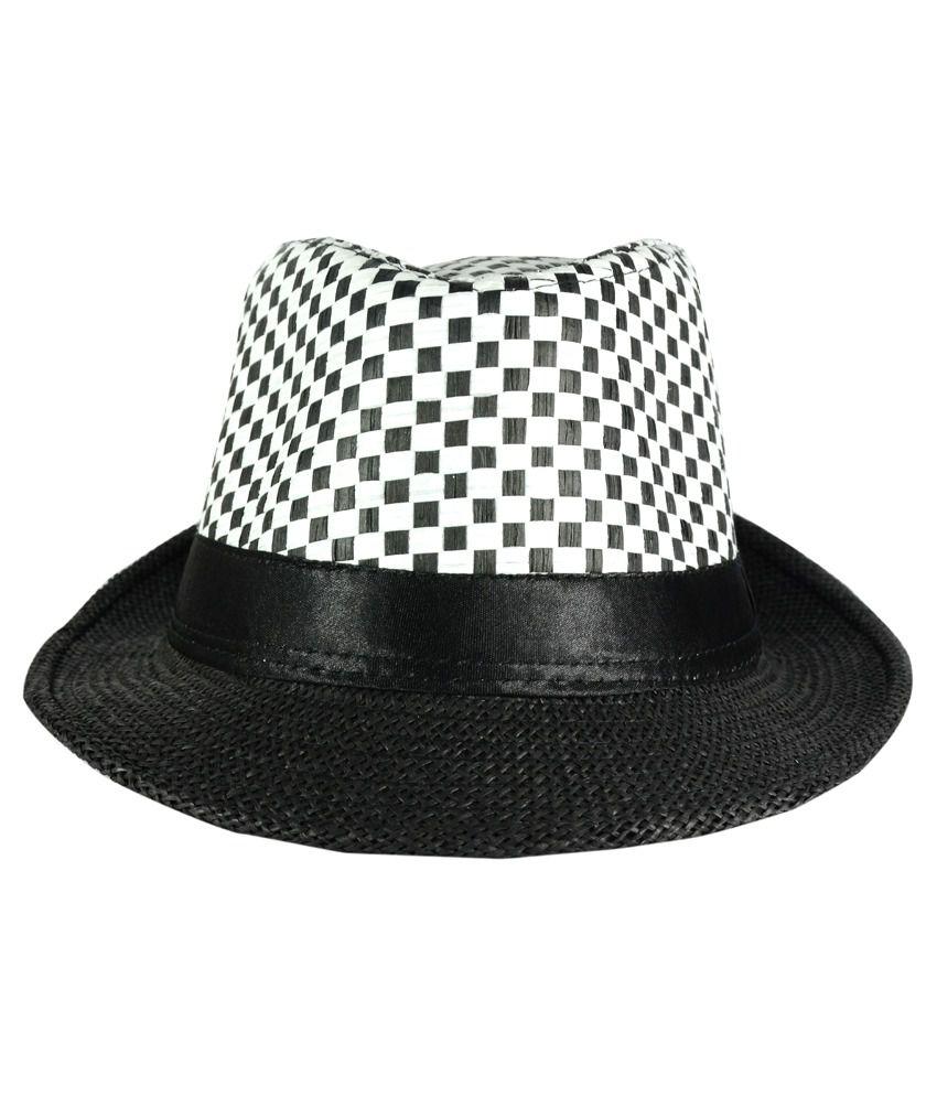 FabSeasons Black Casual Fidora Hat For Men