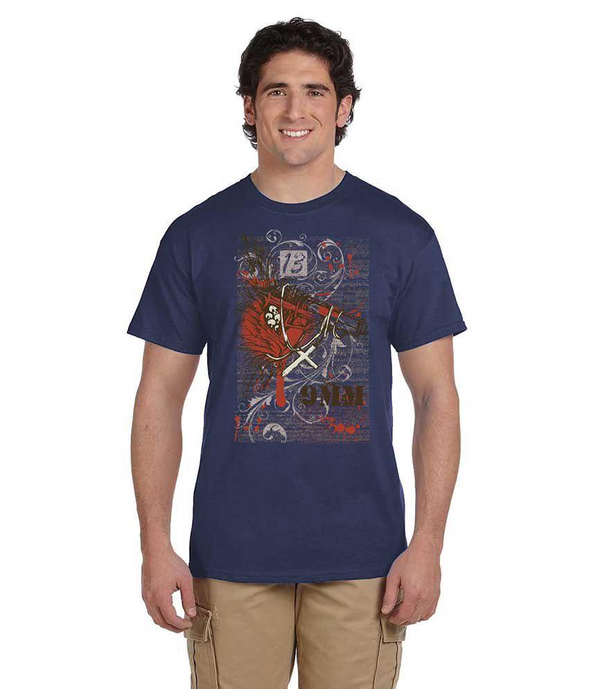 Haunting Dragons Blue Round T Shirt