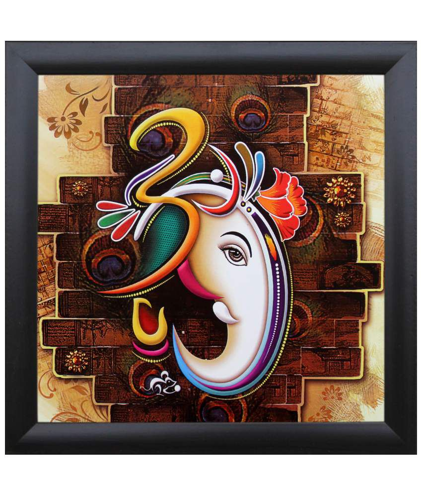 SAF Multicolour Painting with Frame