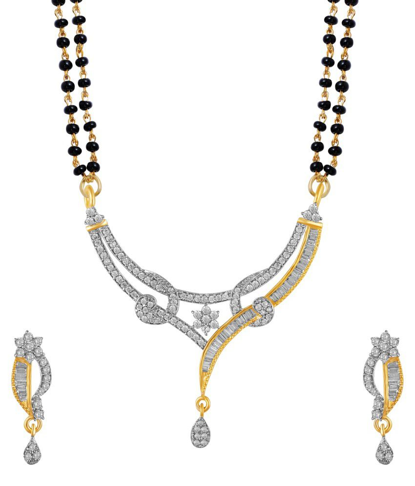 Snazzy Golden Copper Mangalsutra Set