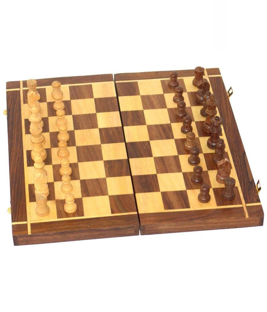 Desi Karigar Brown Wooden Chess Board