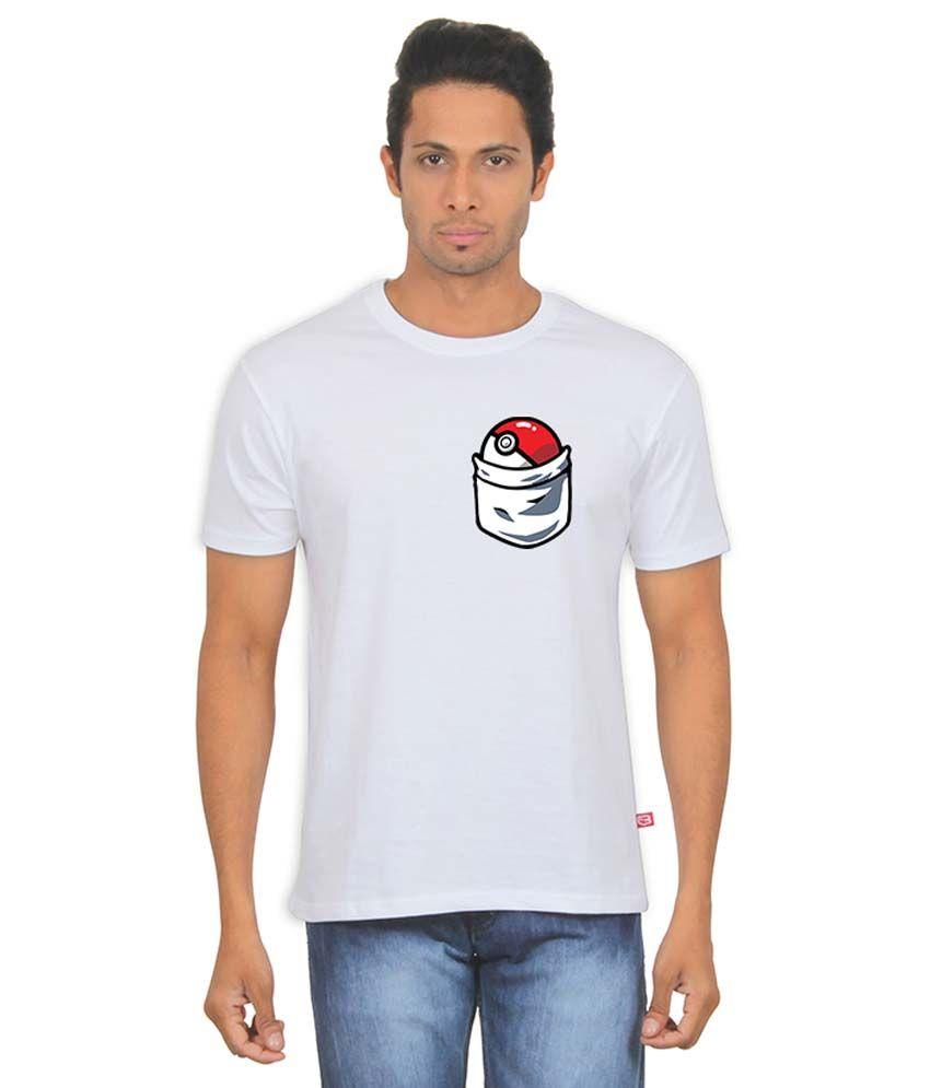FanIdeaz White Round T Shirt