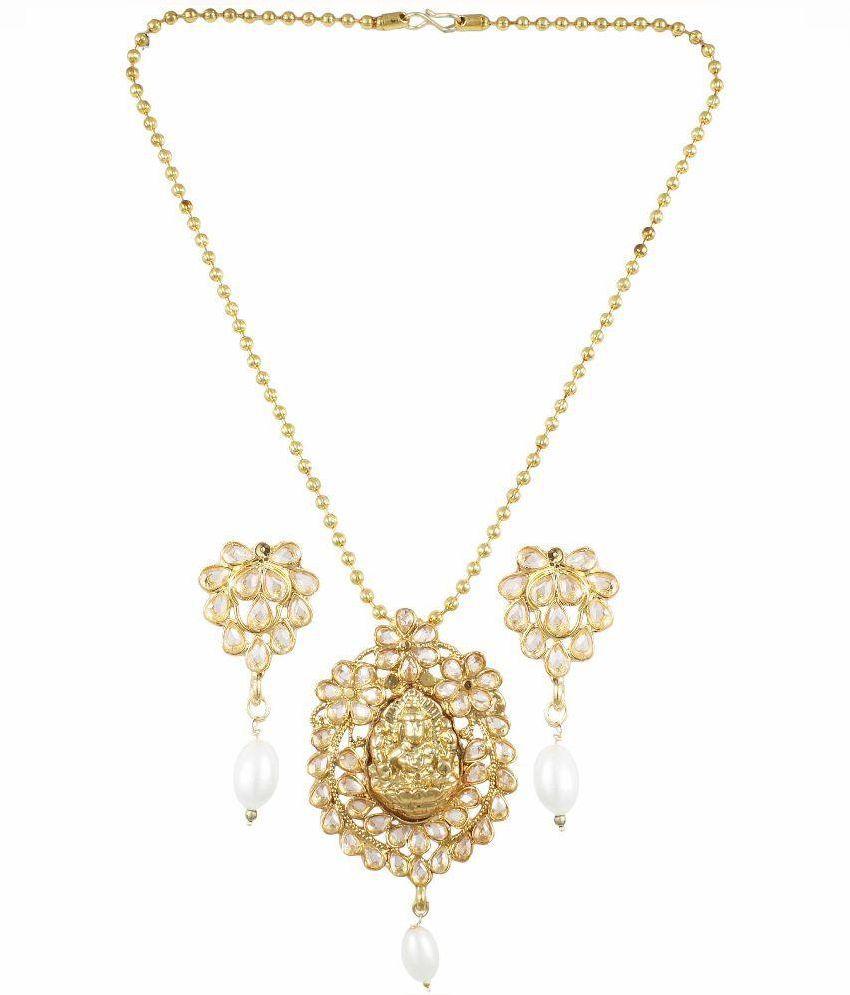 Karatcart Golden Brass Necklace Set