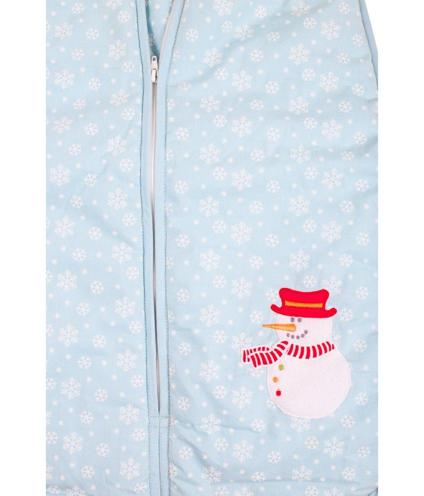 Mom & Me Blue Cotton Baby Sleeping Bag