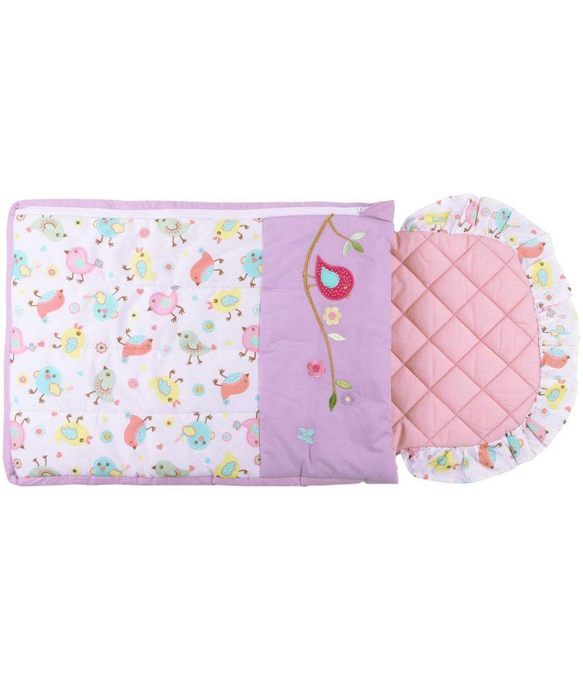 Mom & Me Multicolour Cotton Baby Sleeping Bag