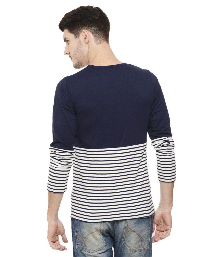 0aba7c8e9 Rigo Navy Round T Shirt - Buy Rigo Navy Round T Shirt Online at Low ...