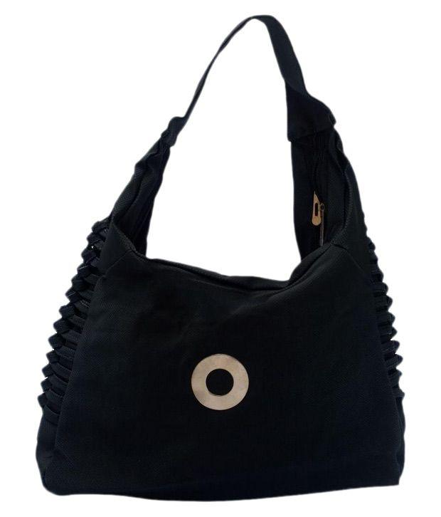 Alice Black Faux Leather Shoulder Bag
