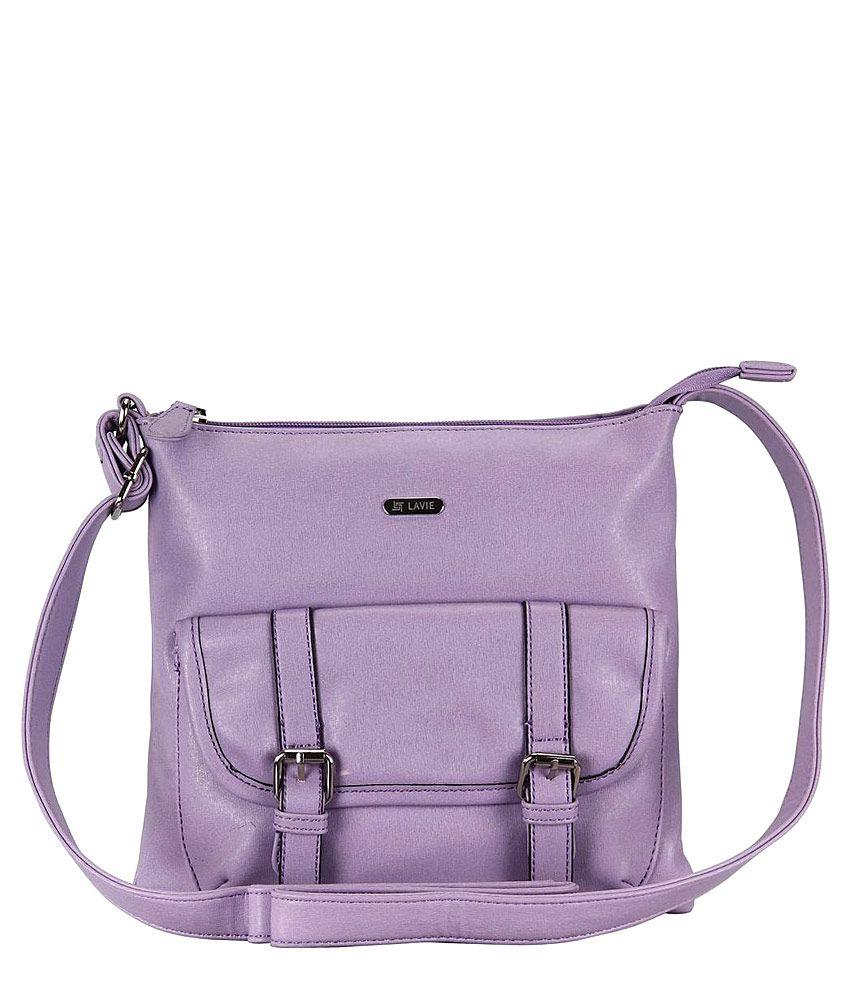 Lavie Purple Synthetic Sling Bag