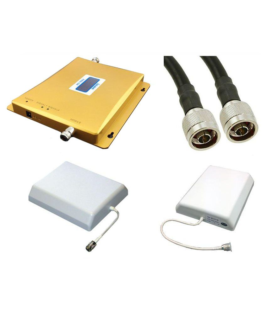 Lintratek Yellow High Gain Dual Band 900-1800Mhz Mobile Signal Repeater