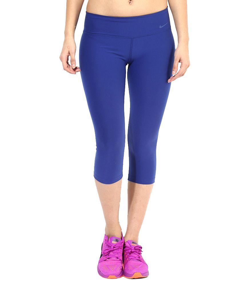 Nike Blue Polyester Capris