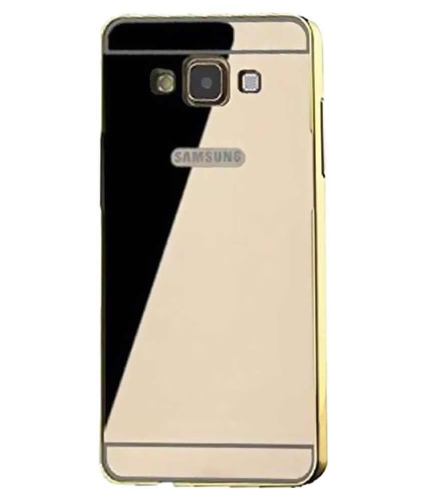 new product e04da 81a6e Kansa Mirror Case Back Cover for Samsung Galaxy J5 - Golden