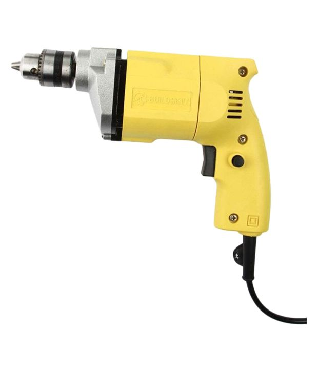 Buildskill BED1100 Plastic 10mm Electric Drill Machine   Yellow  6 Months Brand Warranty