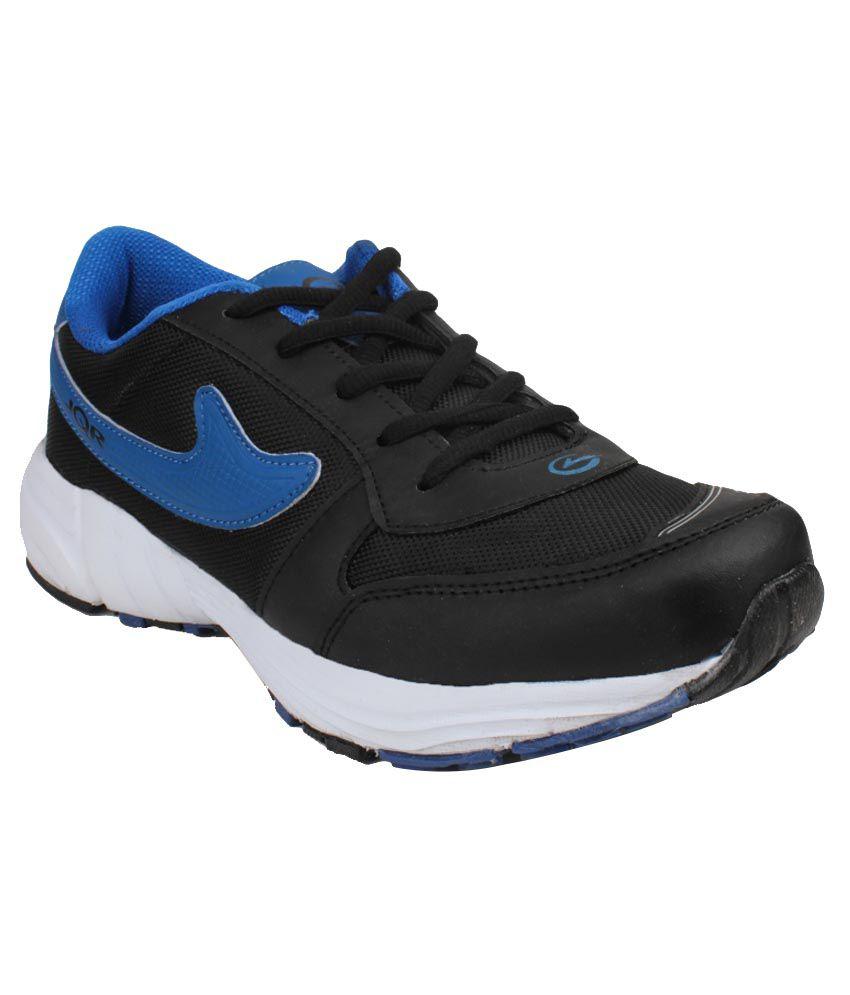 JQR Black Running Shoes