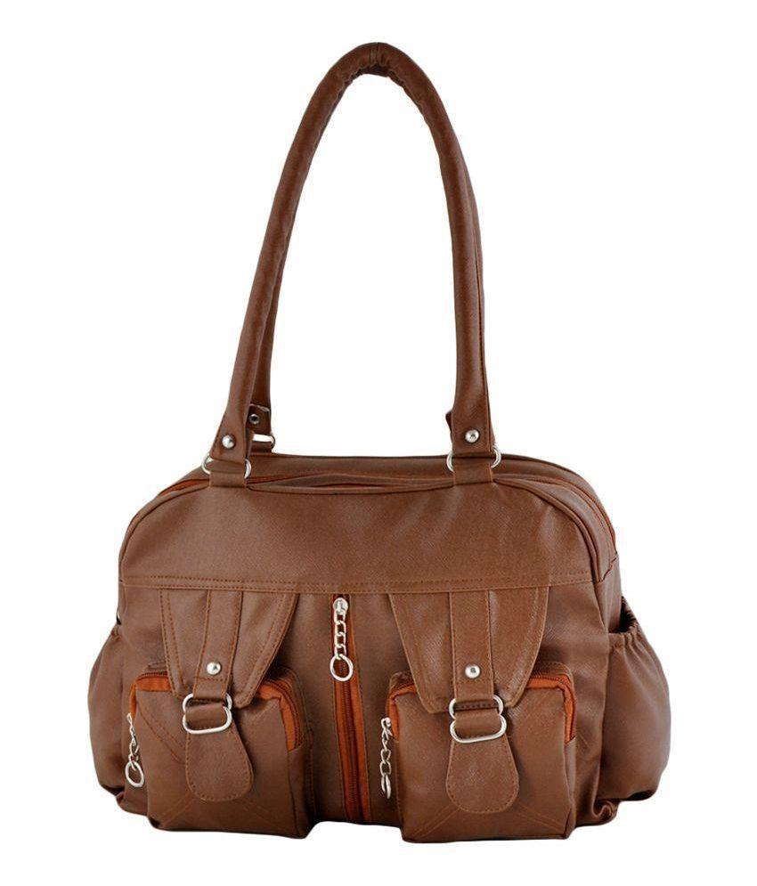 Smartways Brown Synthetic Shoulder Bag