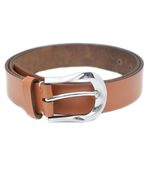 Crapgoos Tan Leather Belt for Men
