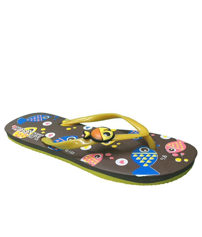 Mixstar Yellow Flip Flops