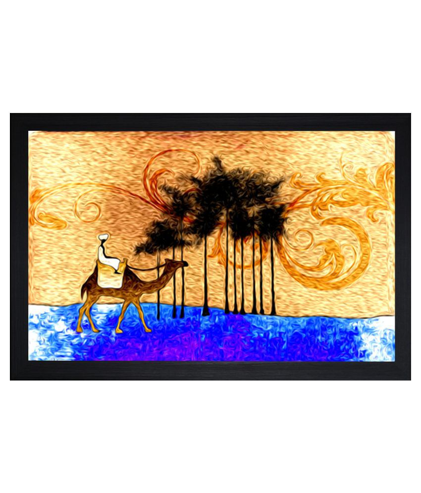 SAF Matte Abstract Paintings with Wooden Frame