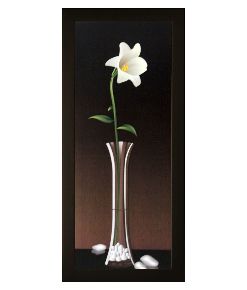 SAF Matte Floral Paintings with Wooden Frame