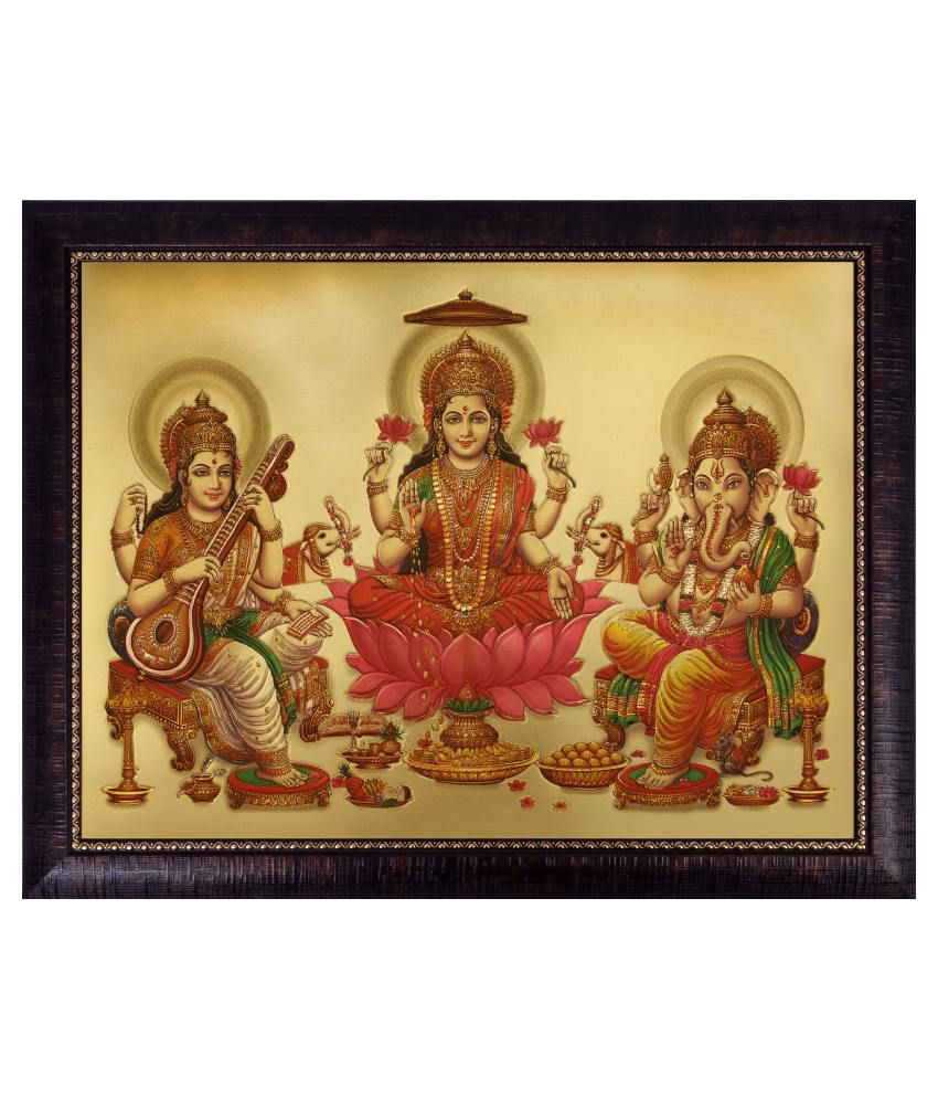 SAF Matte Religious Paintings with Wooden Frame