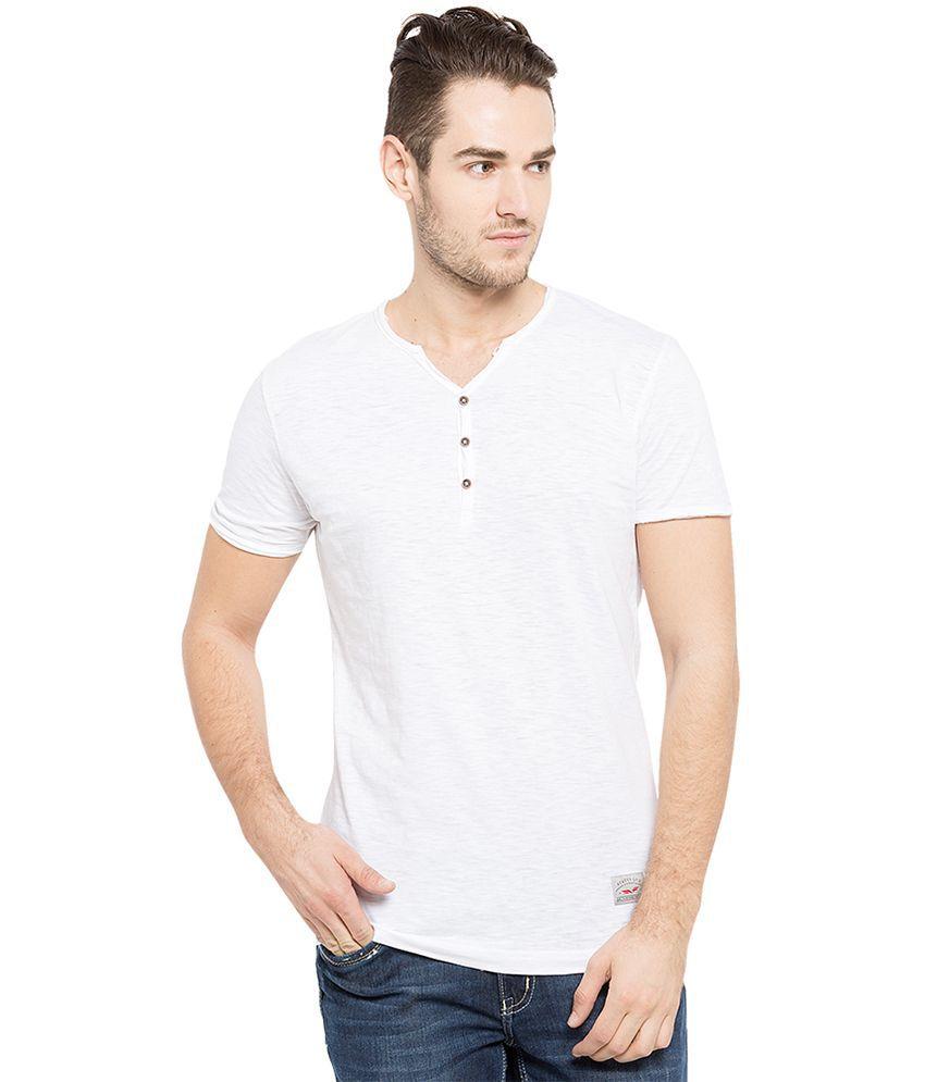 Status Quo White V-Neck T Shirt