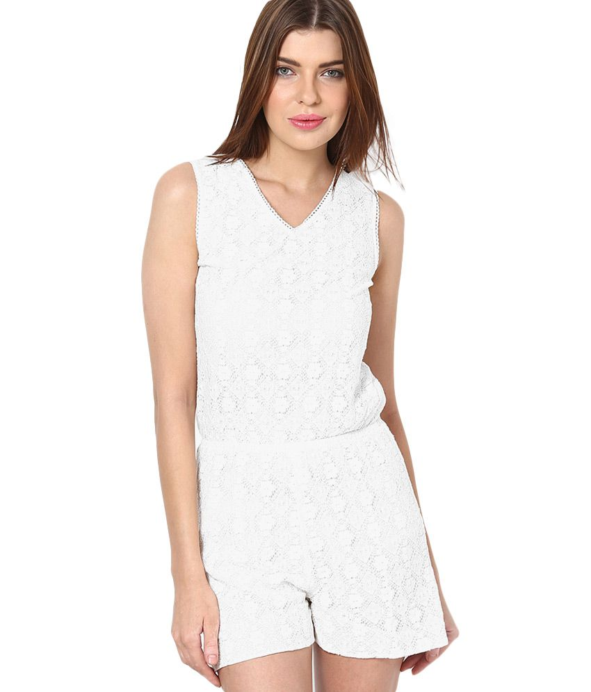 f3c91384f9 Vero Moda White Lace Playsuit - Buy Vero Moda White Lace Playsuit Online at  Best Prices in India on Snapdeal