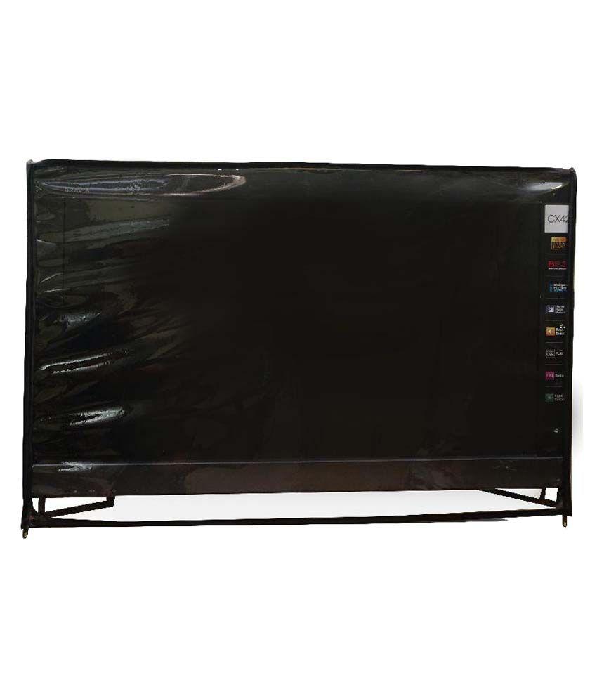 Aditya Transparent PVC LED TV Cover