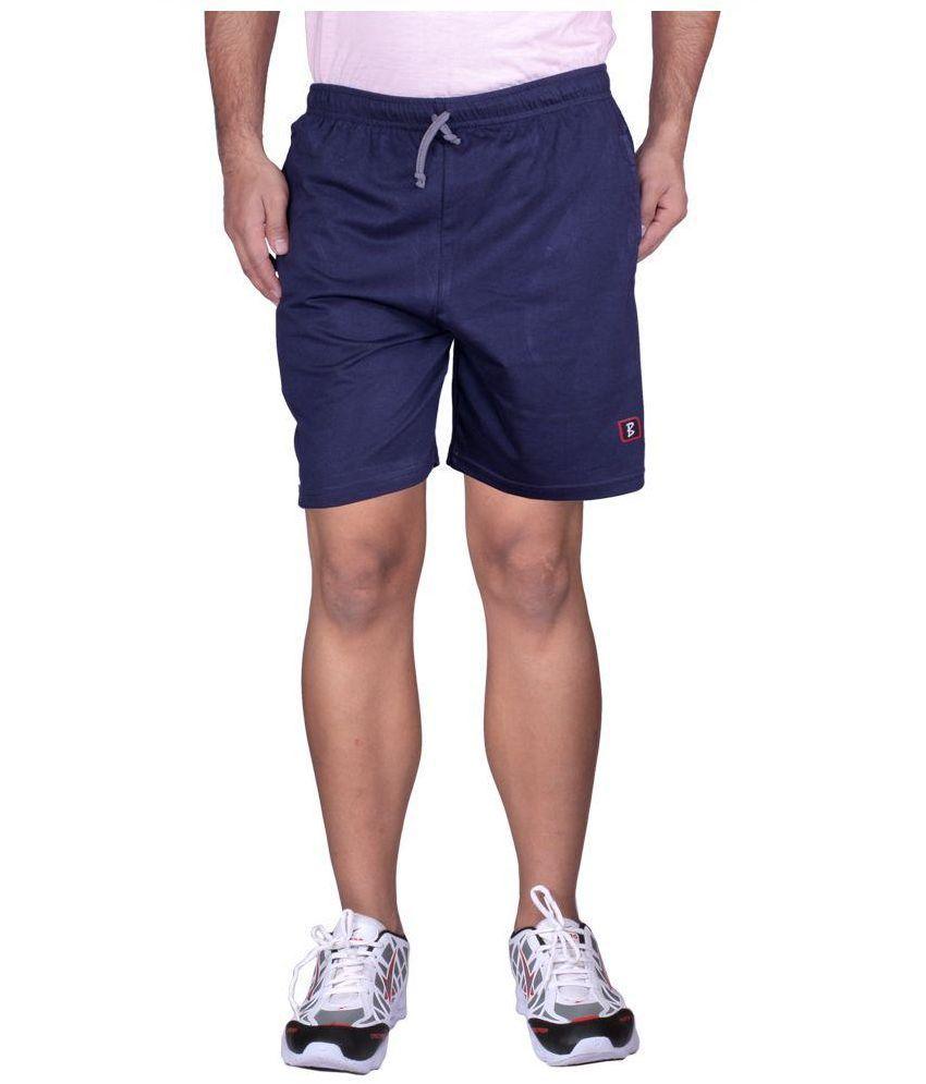 Black Casual Navy Shorts