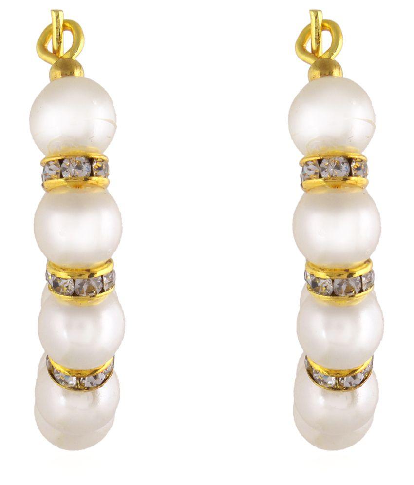 Fasherati White Brass Drop Earrings