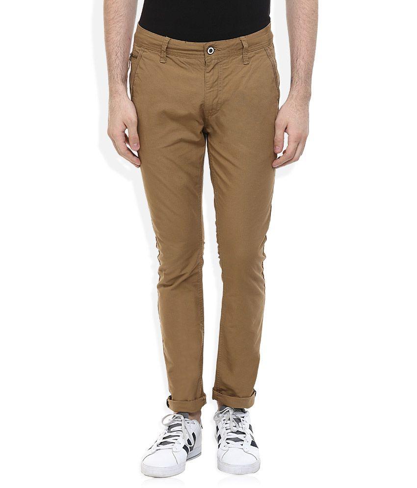 Being Human Khaki Slim Fit Trousers