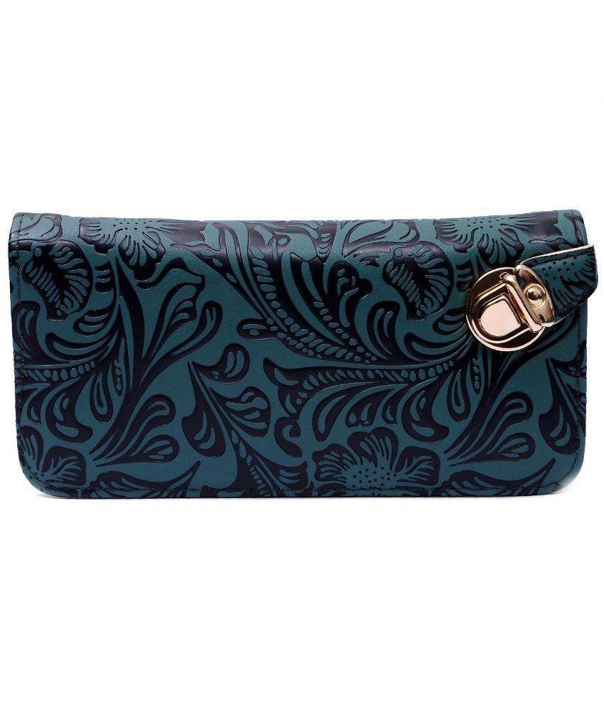 BB Enterprises Green Wallet for Women