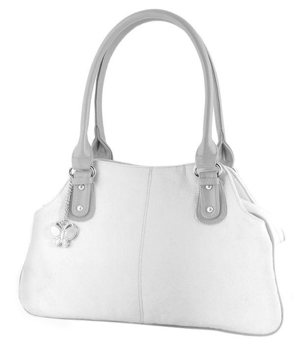 Butterflies Bns0499mlt White Shoulder Bags
