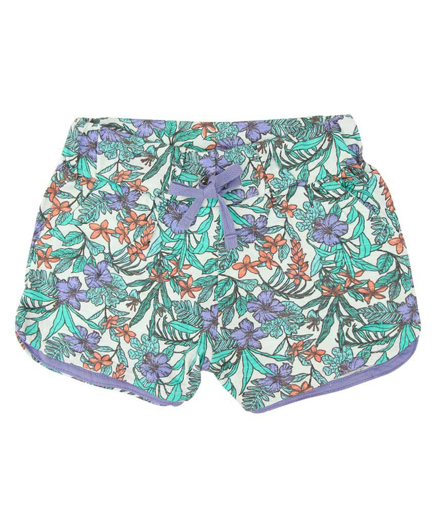 Eimoie Multicolour Cotton Printed Short