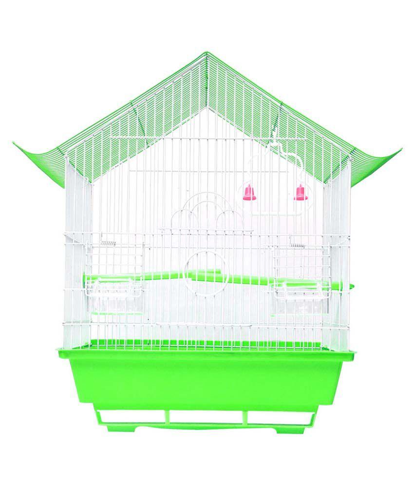 Hawai Green Virgin Plastic Bird Cage