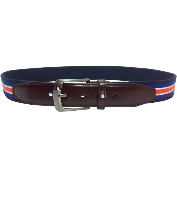 Mars And Venus Multicolor Canvas Casual Belt For Men