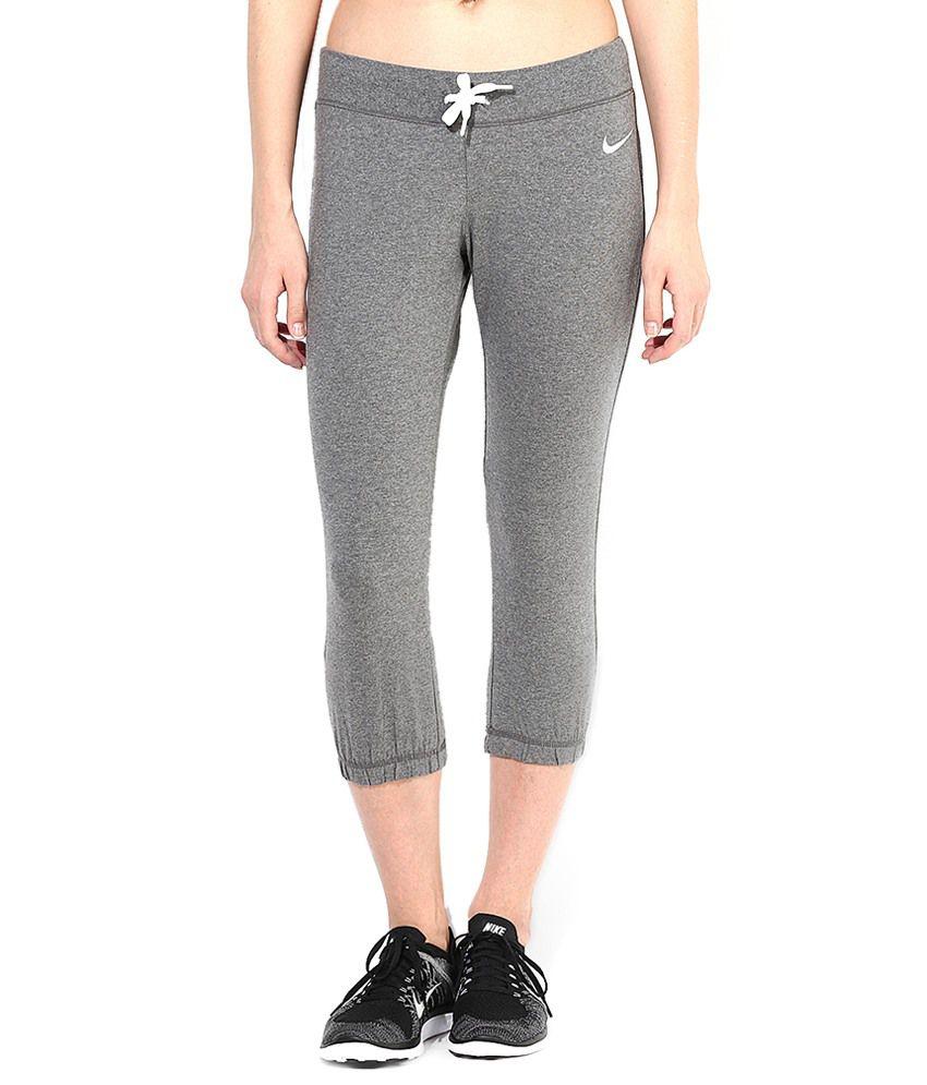 Nike Gray Cotton Capris
