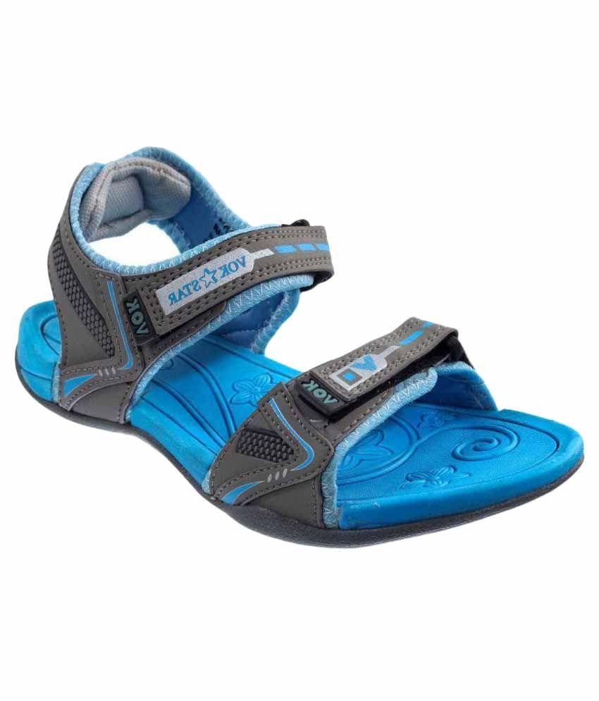 70983ca3e95 Vok Star Blue Floater Sandal Price in India- Buy Vok Star Blue Floater  Sandal Online at Snapdeal