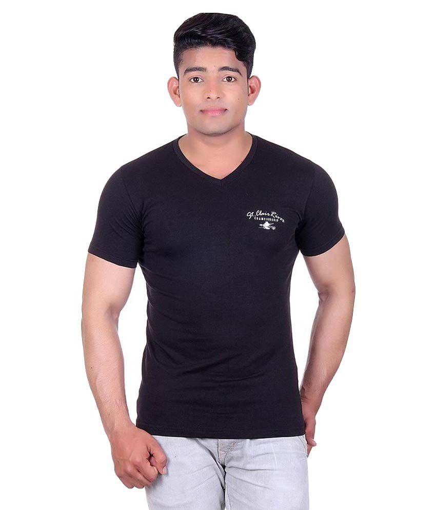 Wilkins & Tuscany Black V-Neck T Shirt