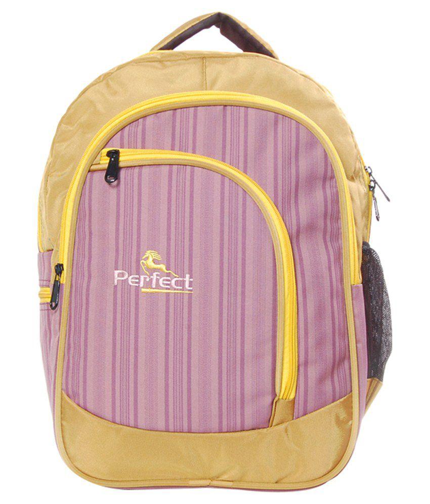 BBC Perfect Orange Polyester Laptop Bag