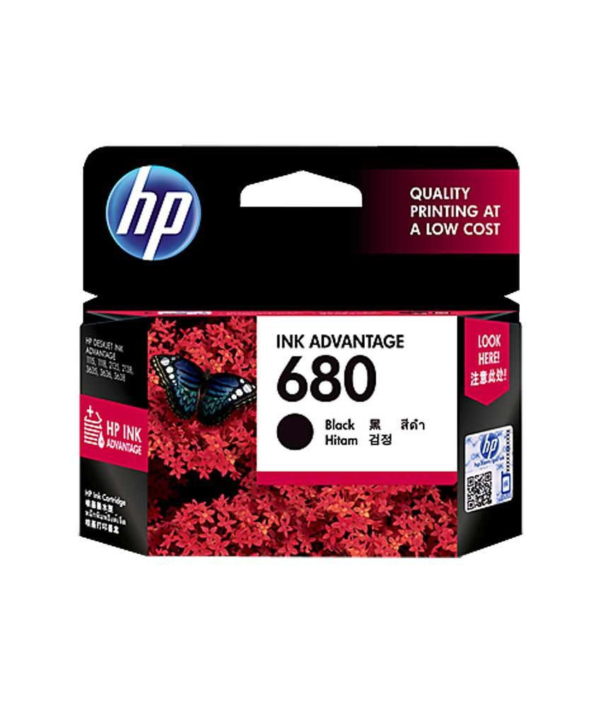 HP 680 Black Original Ink Cartridge for HP2135,HP2138,HP3635,HP3636,HP3638,HP4675,HP4678
