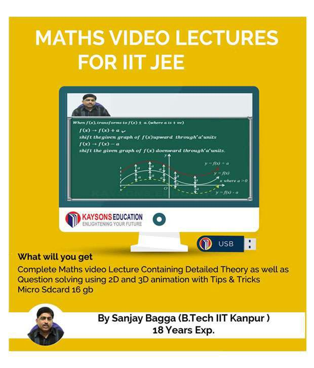 IIT JEE Maths Preparation Material: Video Lectures for JEE Main and Advance Designed in Pendrive/Micro Sd Card By IITian