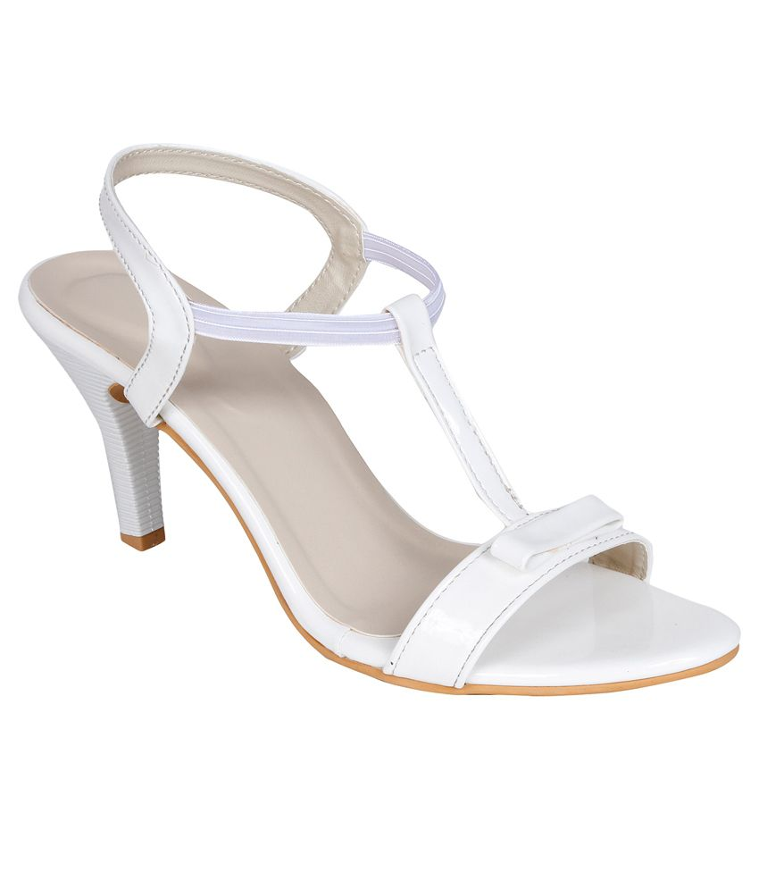 Lovely Chick White Cone Heels