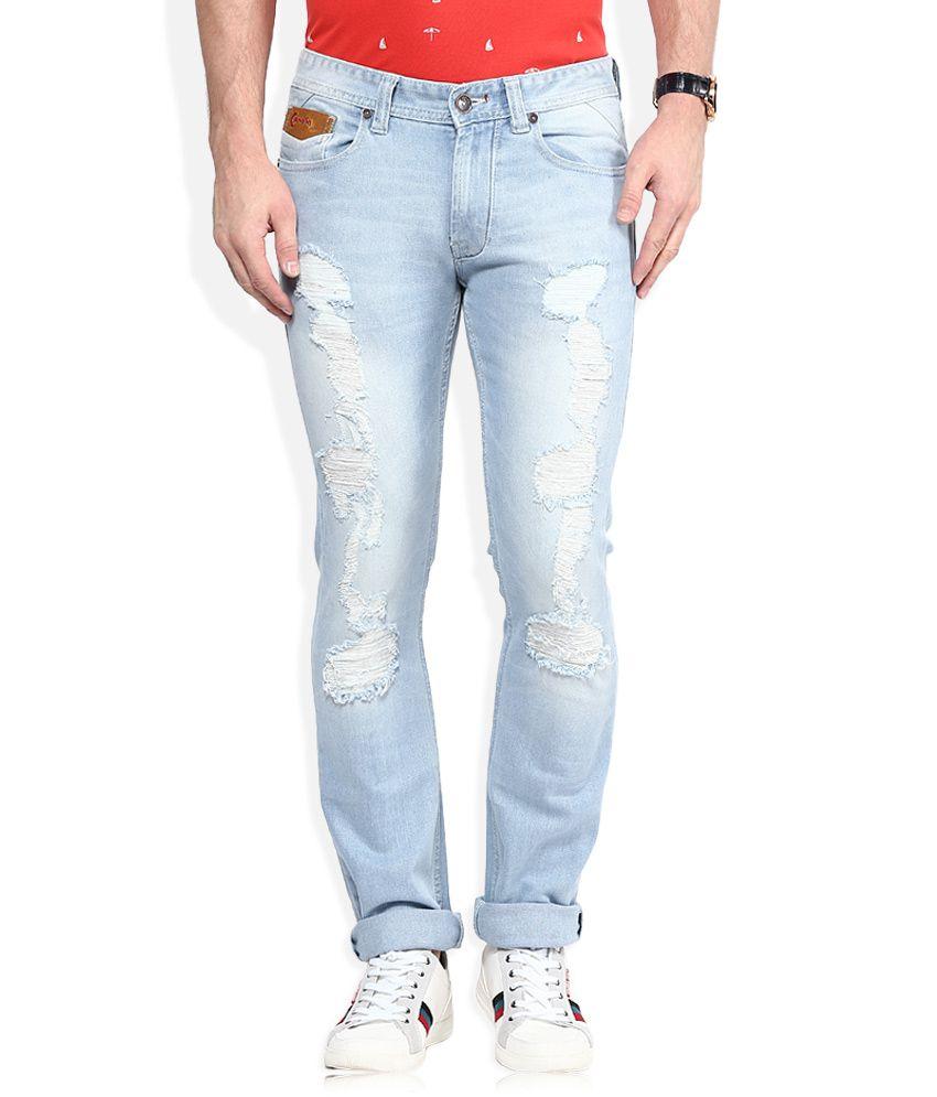 Numero Uno Blue Morice Slim Fit Jeans